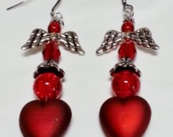 Angel On A Red Heart