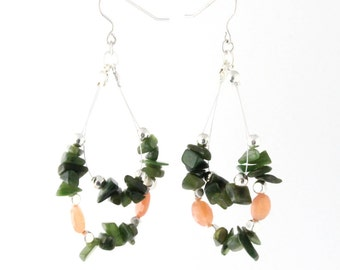 Hanging Chip Bead Earrings