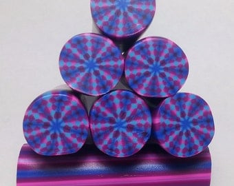 3D Harlequin Cane Brother, Unbaked Polymer Clay Cane, Raw Clay Cane, Polymer Clay Cane,