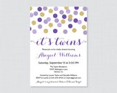 Twins Baby Shower Invitat...