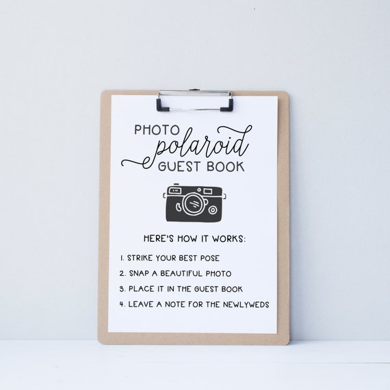 Wedding Guest Book Where It S Your Guests That Sign Their: Wedding Polaroid Guest Book Guestbook Alternative By