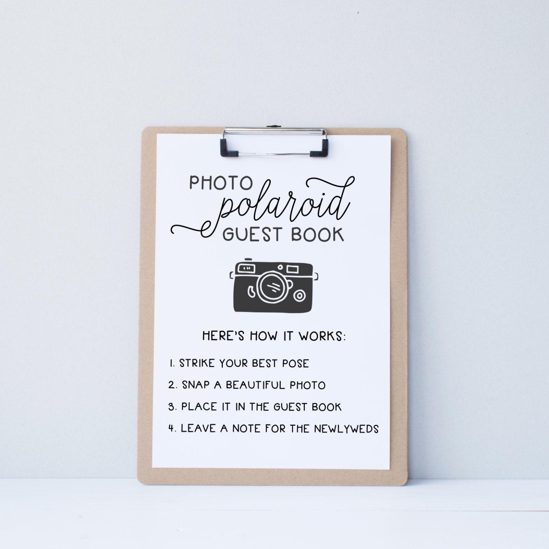 Wedding Photo Guestbook: Wedding Polaroid Guest Book Guestbook Alternative By