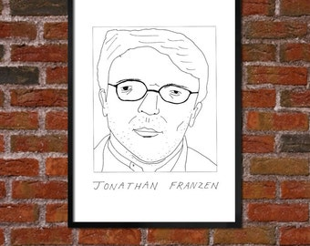 Badly Drawn Jonathan Franzen - Literary Poster - *** BUY 4, GET A 5th FREE***