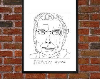 Badly Drawn Stephen King - Literary Poster - *** BUY 4, GET A 5th FREE***