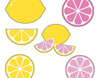 Lemonade Party Cutouts / Party decorations