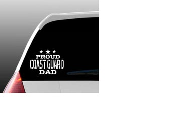 Proud Coast Guard Relative Car Window Decal