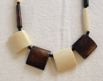 Hand Made Bone and Bead Necklace