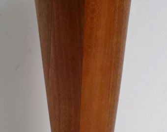 Vintage Turned Wood Vase
