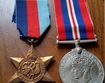 British 1939-1945 Star and War Medal pair