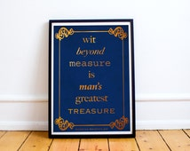 Harry Potter - Ravenclaw House - Rowena Ravenclaw - Quote  (Available In Several Sizes)