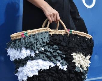 Handwoven strawbag / weaving / ranran design