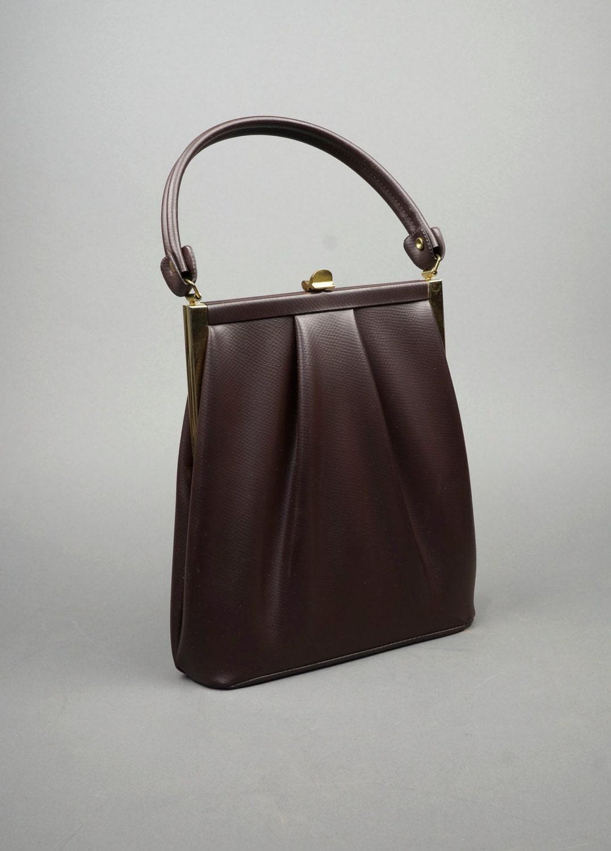 Vintage 1950s Vinyl Handbag Purse Stylemark By Mutterperl