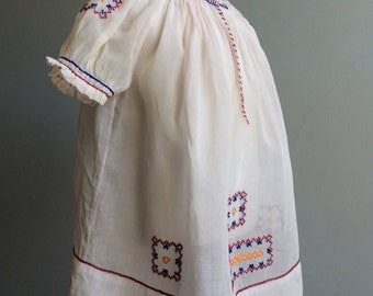Vintage Baby Girl's Hungarian Dress