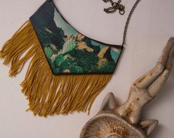 "Necklace of wooden ""desert"""