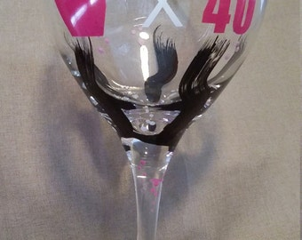 40th Birthday Glass