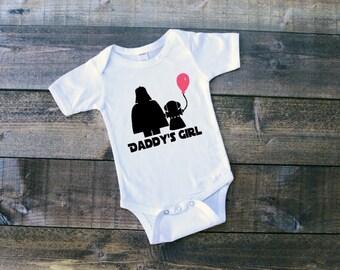 Star Wars Daddy's Girl Darth Vader and Princess Leia Newborn Daddy's Girl Shirt Star Wars Tshirt