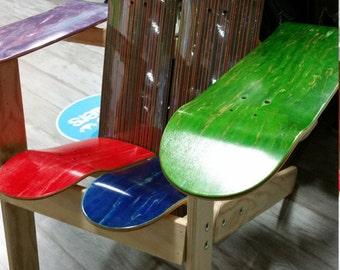 "Color Block ""Plys"" Skateboard Chair"