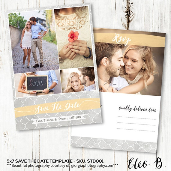 5x7 save the date postcard template engagement announcement. Black Bedroom Furniture Sets. Home Design Ideas