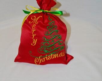 Christmas tree Gift Bag Christmas Gift Sack Xmas Gift Bag Embroidered Gift Bags Xmas gift Santa Childrens Stocking Christmas gift ideas