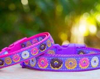 Donut Dog Collar / Doughnut Dog Collar / Purple Dog Collar / Dog Collars Australia / XS-XL
