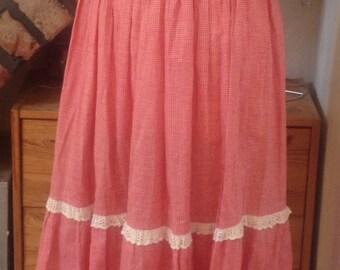 1970s folk, prairie, gypsy, Vintage Sun Dress by Radley size 10(uk)