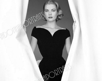"""GRACE KELLY 5x7 or 8x10 Photo Print Hollywood 1950s """"Howard Conan"""", Vintage Golden Age of Hollywood Portrait"""