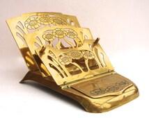 Victorian Stamp & Letter Rack Vintage Brass Spring Loaded Letter Rack Vintage Desk Storage Organiser Edwardian Letter Rack Metalware
