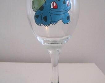 Bulbasaur wine glass