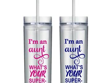 Aunt Gift, Aunt, Auntie, Gift for Aunt, Aunt Tumbler, Aunt Coffee Mug, Aunt Travel Mug, Aunt Cup, Aunt loves me, Gifts for Aunt