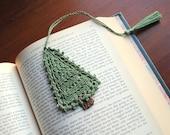 Crochet bookmark, pine tree, unique book lover gift