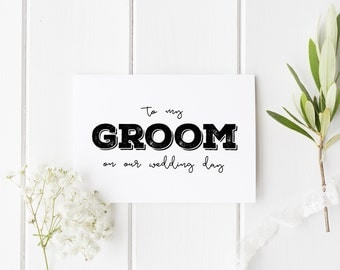 To My Groom On Our Wedding Day, Rustic Groom Wedding Day Card, Groom Wedding Card, Card For Groom Wedding Day, To My Groom On My Wedding Day
