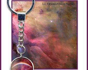 Pink Nebula Keyring