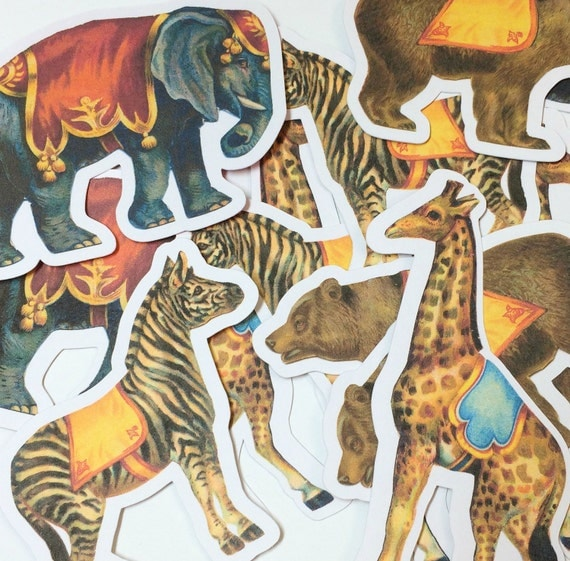 Vintage Circus Die Cuts,Cut Outs,Scrapbooking,Scrapbook Supplies,Scrapbooking Die Cuts,Circus Die Cuts,Circus Cut Out,Circus Party