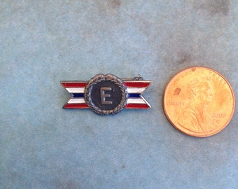 Antique, WW2 Army Navy Production Award   Lapel pin   Sterling