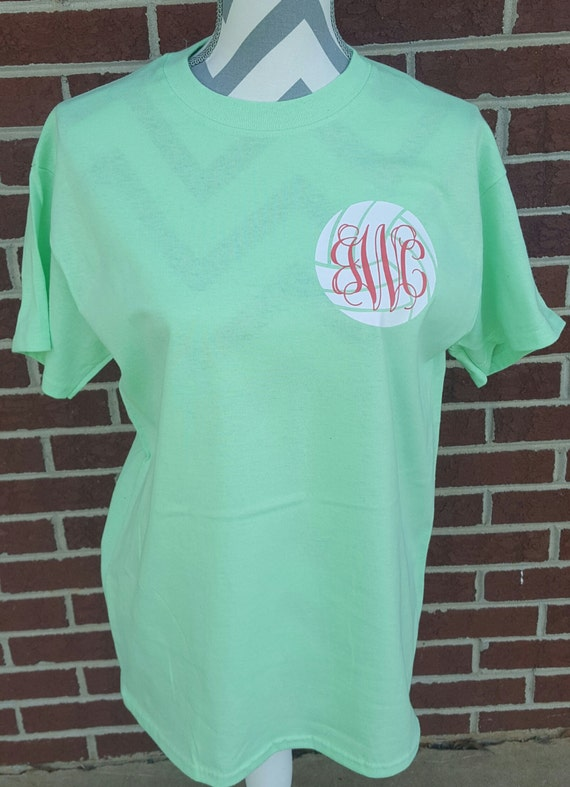 monogrammed volleyball short sleeve shirt volleyball