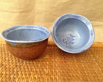 JAPANESE CERAMIC CUPS Set of 2 Vintage Cups/Bowls