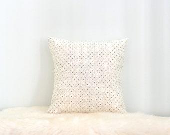 White With Black Polka Dot Envelope Cushion Cover