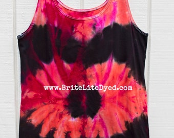 Tie Dye Maternity Tank LARGE-Tie Dye Clothing-Hippy-Women's Clothing-Tye Dye-Tiedye-Tie Dyed-Festival Clothing-Women's Tie Dye-Hipster