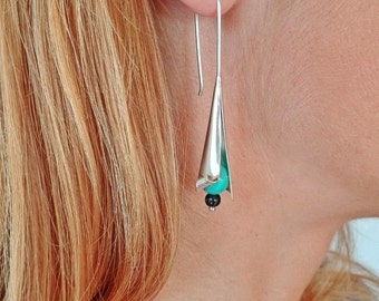 Turquoise Earrings - Sterling Silver - Free Shipping