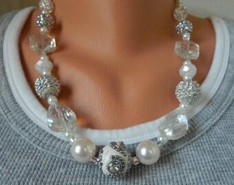 No. 2382  Silver & Ice Necklace