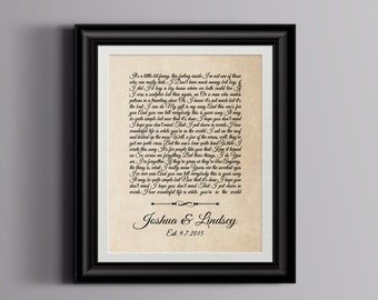 Wedding song gift, Wedding song lyrics, Wedding song print, Wedding song art, Wedding song lyric art, Wedding song lyric