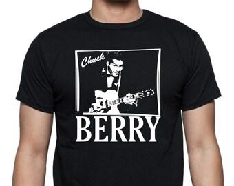 Chuck Berry T-shirt - Rock'N'Roll Legend, Image, Vinyl, Various Sizes/Colours