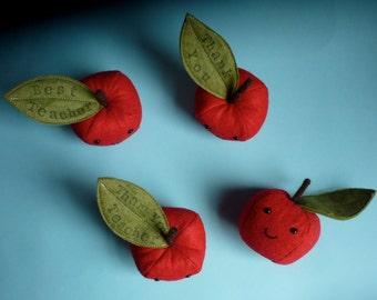Teacher Thank You Apple. Felt apple ornament. Teacher Gifts. Apple for Teacher