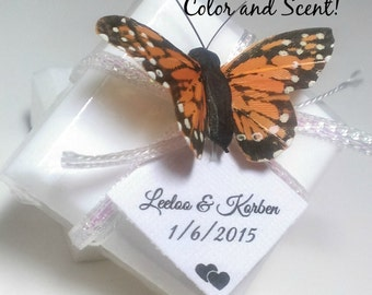 Butterfly Wedding Favor Soaps, 96 Bridal Shower Butterfly Favors, Natural Wedding Soap Favors, Rustic wedding, unique wedding, Custom Favors