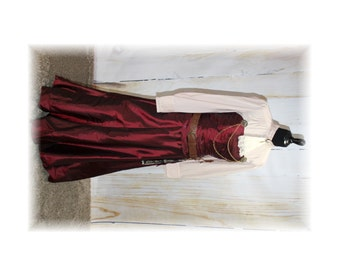 Complete Steampunk Lady Costume / Victorian / Neo-Victorian-Medium-Large (D27)