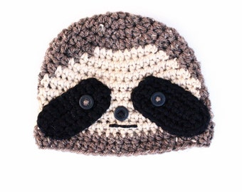 Sloth Hat, Baby Toddler Adult Sloth Hat, Sloth Beanie, Sloth Baby, Sloth Costume, Halloween Costume, Newborn Photo Prop