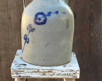 Gorgeous Whites Utica Slip Decoration Salt Glazed Stoneware Beehive Jug FREE SHIPPING