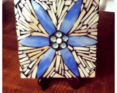 Stained Glass Mosaic Daisy