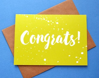 New Job Congratulations Card, Congratulations Graduation Card, Congrats Driving Test Card, Congrats You Passed Card, Congrats Exam Card