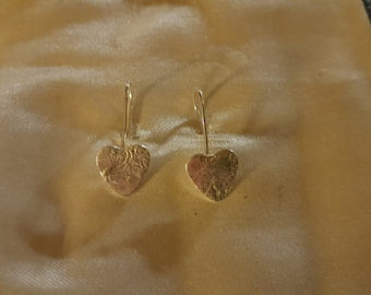 reticulated sterling silver heart earrings